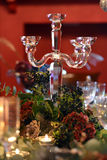 Christmas dining table Royalty Free Stock Photo