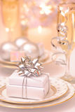 Christmas Dining Table Setting Stock Photography