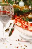 Christmas dinner. Closeup of a christmas dinner table Royalty Free Stock Image