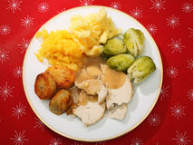 Christmas dinner from above Stock Photography