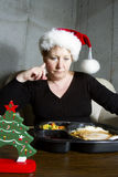 Christmas Dinner Alone Stock Photo