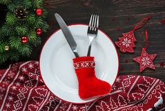 Christmas dinner background Stock Photography