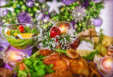 Christmas dinner Stock Images