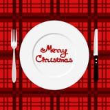 Christmas dinner. Dinner time. Royalty Free Stock Image