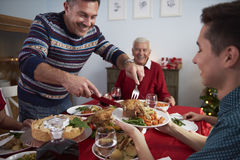 Christmas dinner Royalty Free Stock Photo