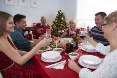 Christmas dinner stock image