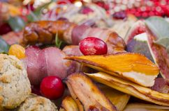 Christmas Dinner Garnish Royalty Free Stock Photo