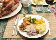 Christmas dinner horizontal Royalty Free Stock Photos