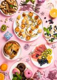 Christmas dinner party table royalty free stock photography