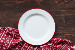 Christmas dinner plate Stock Photography