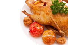 Christmas dinner.Roast duck Royalty Free Stock Images