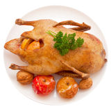 Christmas dinner.Roast duck Royalty Free Stock Photography