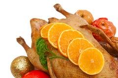 Christmas dinner.Roast duck Stock Image