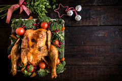 Christmas dinner served Royalty Free Stock Photography