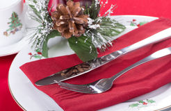 Christmas Dinner Setting Royalty Free Stock Photos