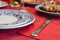 Christmas dinner table Stock Photography