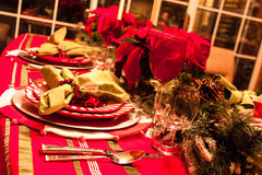 Christmas Dinner Table Stock Photography