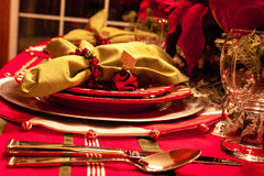 Christmas Dinner Table Royalty Free Stock Photography