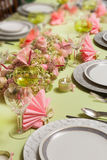 Christmas dinner table in pastel colors Stock Photography