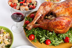 Christmas Dinner Table Stock Images