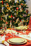 Christmas dinner table Stock Image