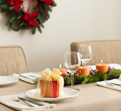 Christmas Dinner table Stock Photos