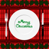 Christmas dinner. Dinner time. Stock Images