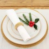 Christmas Dinner Time Stock Image
