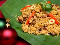 Christmas dinner. Traditional Puerto Rico Christmas dinner Stock Photos
