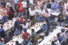 Christmas dinners. For the homeless, Los Angeles, California Royalty Free Stock Photography