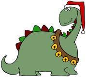 Christmas Dinosaur Stock Image