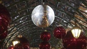Christmas Disco Ball stock video