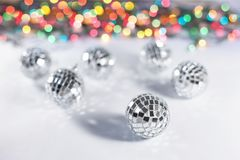 Christmas disco balls Royalty Free Stock Photo
