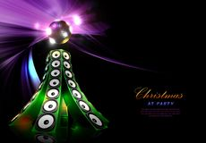 Christmas disco party poster template vector illustration