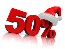 Christmas discount Royalty Free Stock Photography