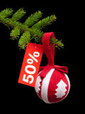 Christmas discount Royalty Free Stock Image