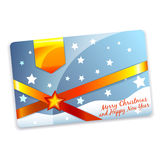 Christmas discount card template. Christmas gift discount card or flyer template Stock Images