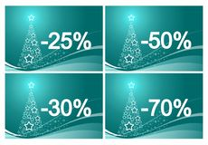 christmas discount cards Royalty Free Stock Photos