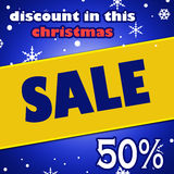 Christmas Discount Sale banner Stock Image