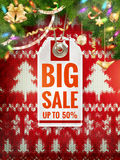 Christmas discount, sale. EPS 10 Royalty Free Stock Photo