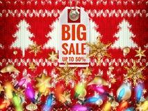 Christmas discount, sale. EPS 10 Stock Photo