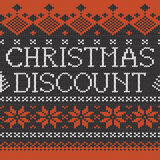 Christmas Discount: Scandinavian seamless knitted pattern Royalty Free Stock Photos