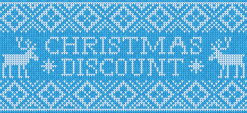Christmas discount: Scandinavian style seamless knitted pattern Stock Images