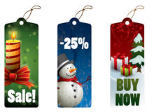 Christmas discount tags Stock Photography