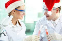 Christmas discovery Royalty Free Stock Photo
