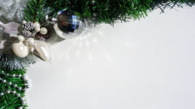 Christmas display of ornaments Royalty Free Stock Images