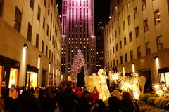 The 2014 Christmas Displays On Fifth Avenue & Rockefeller Center 34 Stock Image