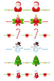 Christmas Dividers Set [1]. Set of six Christmas seamless dividers, useful as design elements, borders or banners. Check my portfolio for other collections. Eps Stock Image