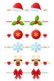 Christmas Dividers Set [2] Royalty Free Stock Image