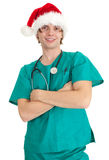 Christmas doctor Royalty Free Stock Photo